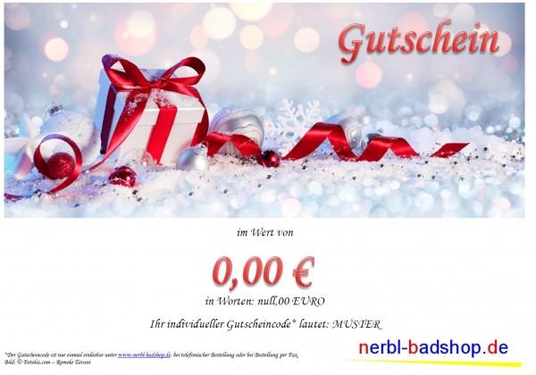 Gutschein ab 15,00 € - Motiv Weihnachtsgeschenk