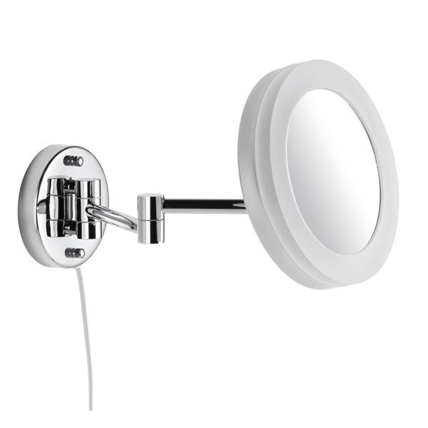 AVENARIUS Kosmetikspiegel rund Wandmodel mit Spiralkabel