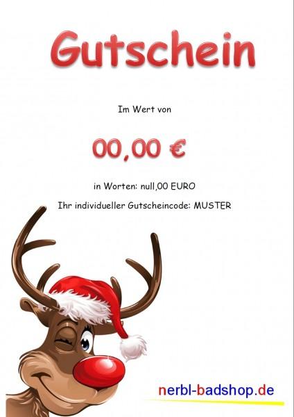 Gutschein ab 15,00 € - Motiv Rentier