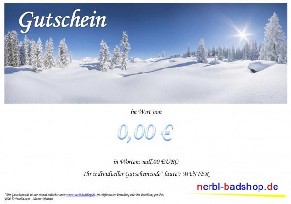 Gutschein ab 15,00 € - Motiv Winterlandschaft
